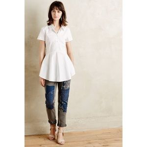 Anthro HD In Paris Huntseat Buttondown Shirt Tunic